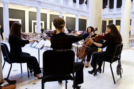 String Quartet in Art Museum
