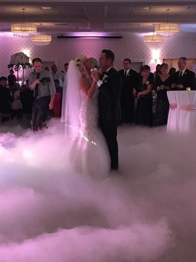 Smoke effect on the dance floor