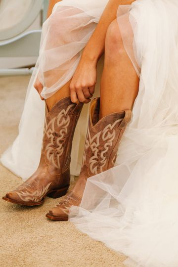 A pair of cowgirl boots