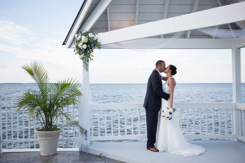 Newlyweds by the sea