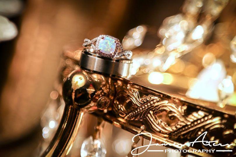 Beautiful gold opal rings