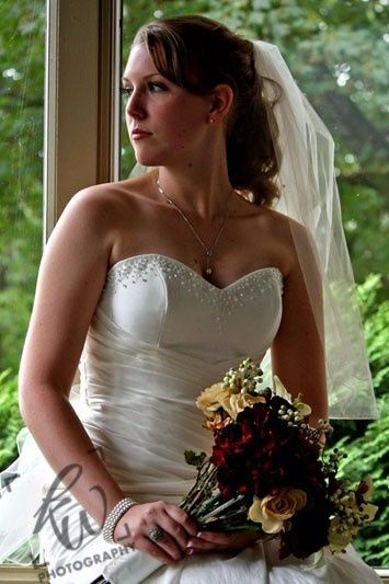 The stunning bride from the wedding photo shoot at the winery in State College, Pennsylvania.