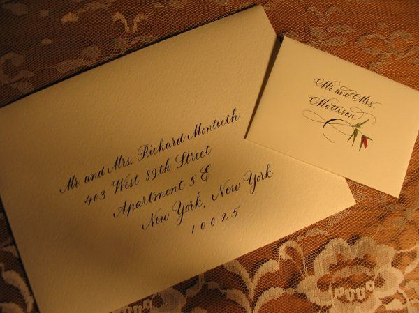 Flourished Copperplate on Escort card