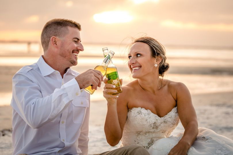 Cheers to the newly weds