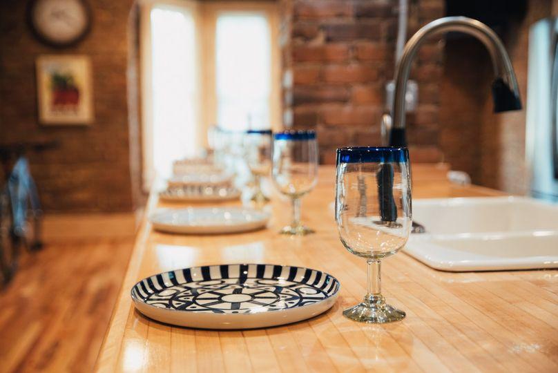The communal kitchen