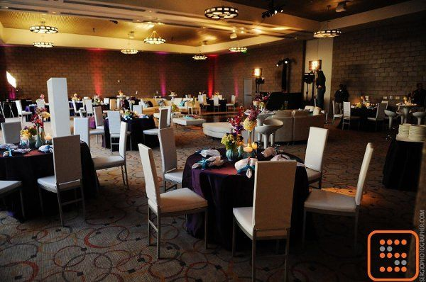Wedding reception with mixed seating