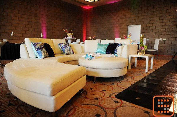 White Sectional & Pucci Designer's pillows