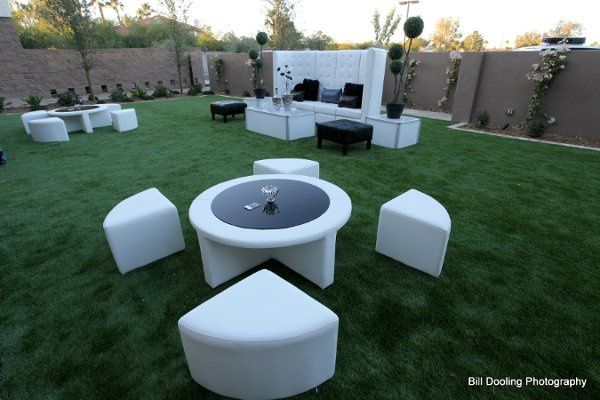 """""""Wedge"""" Bar Set and Tufted High back-rest sectional."""
