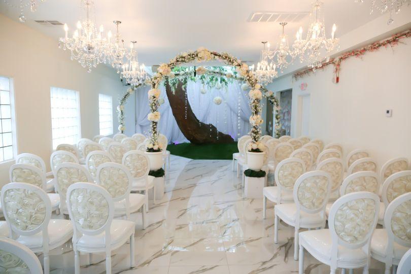 Indoor wedding setting