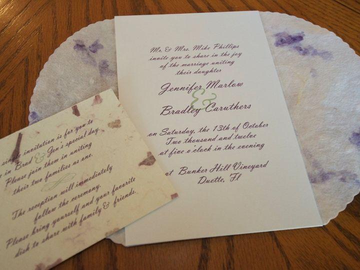 Tmx 1347483774136 DSC5360 Winter Park, FL wedding invitation