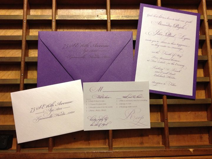 Tmx 1372287728750 Photo Winter Park, FL wedding invitation