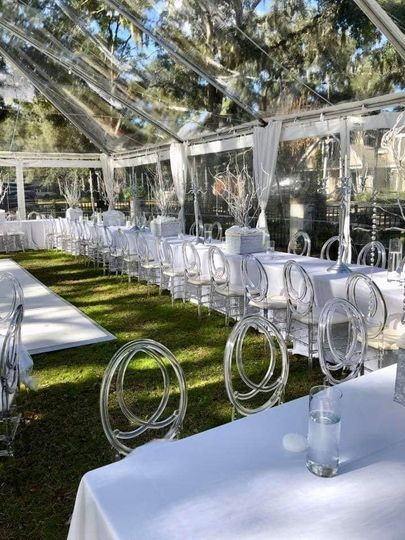 Clear infinity chairs