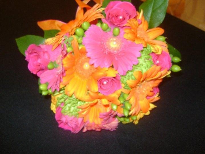 Tmx 1369351340290 Hot Pink And Orange Simpsonville wedding florist
