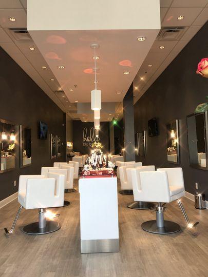 Blo foundry row inside the salon
