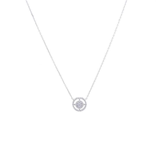 necklacesterlingsilvercirclesuuridesign