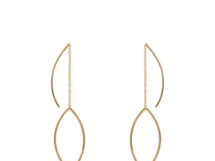 Tmx 1507226517529 Earringsgoldplated Over Sterling Silversuuridesign Chicago wedding jewelry