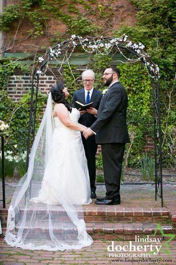 Couple exchanging ceremony
