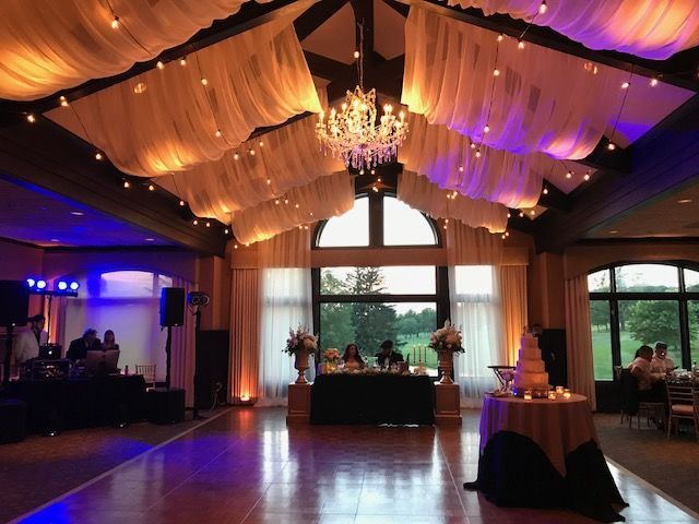Enhanced Draping with Chandelier Decor