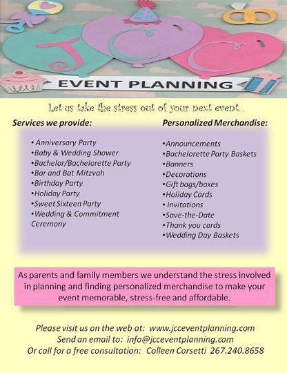 JCC Event Planning Flyer