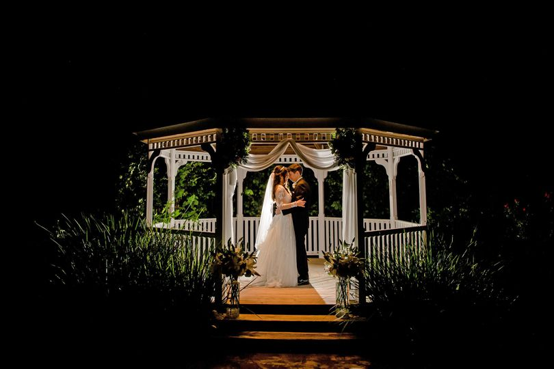 Night time Kiss at the Gazebo