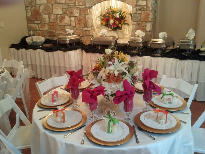 Tmx 1357458308725 20120602Tablebuffetwflowersinarchednook Round Rock, TX wedding venue