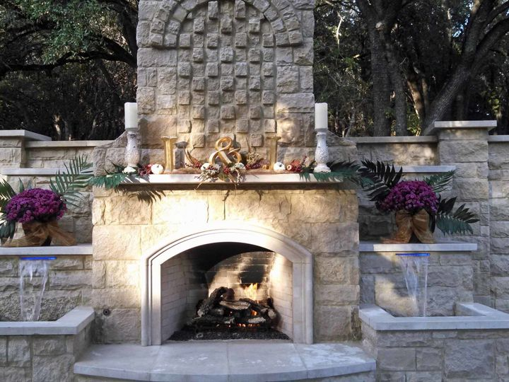 Tmx 1510033410735 Fall 14 Wedding W Flowers On Mantle Round Rock, TX wedding venue