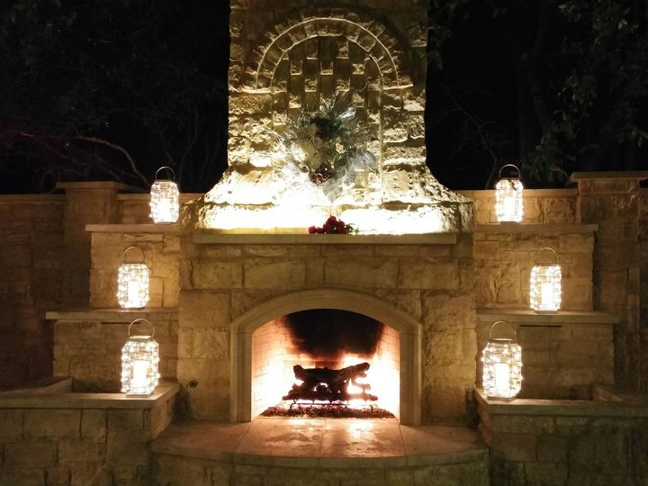 Tmx 1510033470908 Night Lanterns Around Fireplace 20170107 Round Rock, TX wedding venue