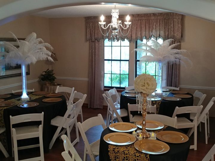 Tmx 1510033550615 110417 Uplited Feather Center Pieces Round Rock, TX wedding venue