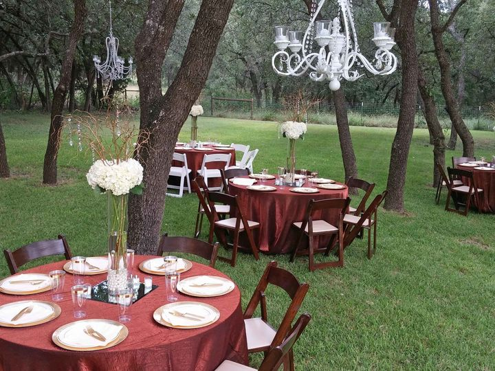 Tmx 1510033705192 Bronze Outdoor Table Cloths Fall Wedding Round Rock, TX wedding venue