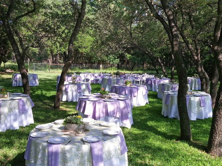 Tmx 1510033714025 Outdoor Tables Under Live Oaks 4 30 16 Round Rock, TX wedding venue