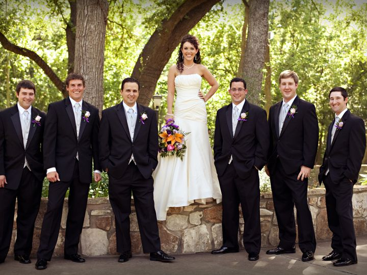 Tmx 1510034342054 Bride  Groomsmen At Chateau On The Creek Round Rock, TX wedding venue