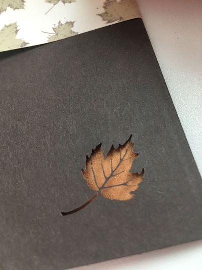 Close-up of laser cut leaf