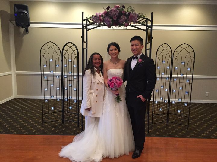 The Dunsmuir Hellman Estate in the Oakland Hills was the venue where this couple, their family and...