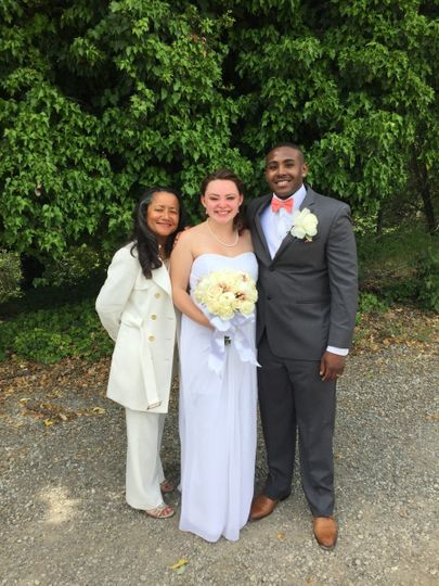 This ceremony held at a private winery in Fairfield was an intimate one--the Groom on active duty in...