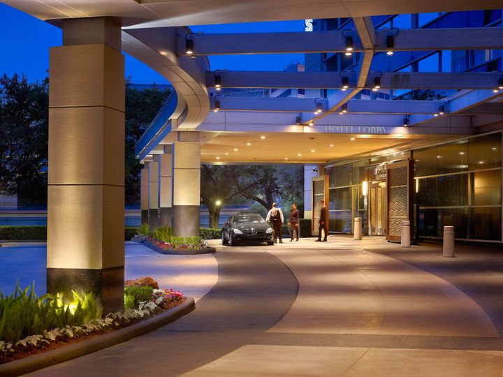 What an arrival! In addition to the main entrance, our hotel also features a separate covered...