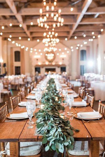 Wedding table area
