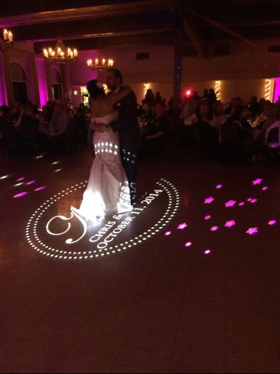 Monograming on dance floor
