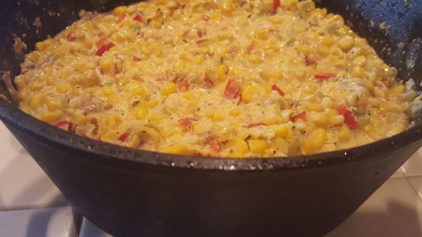 Corn pudding... it's delicious
