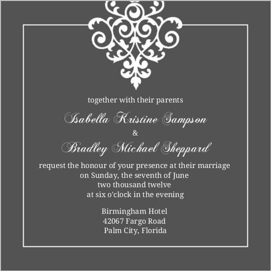 gray white flourish wedding invitation3390580671la