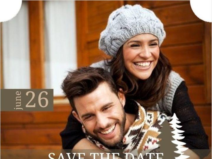 Tmx 1440787735767 Green Kraft Pine Trees Save The Date Card320465750 Issaquah wedding invitation