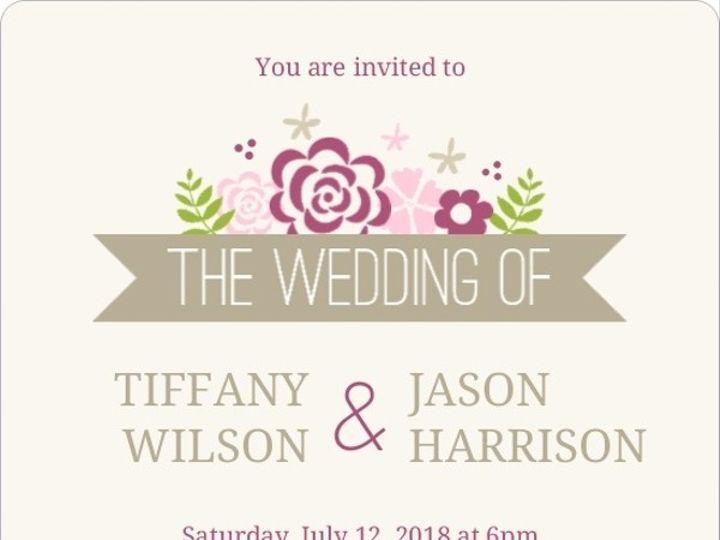 Tmx 1440787740642 Pink Monogram Flowers Wedding Invitation3606156960 Issaquah wedding invitation