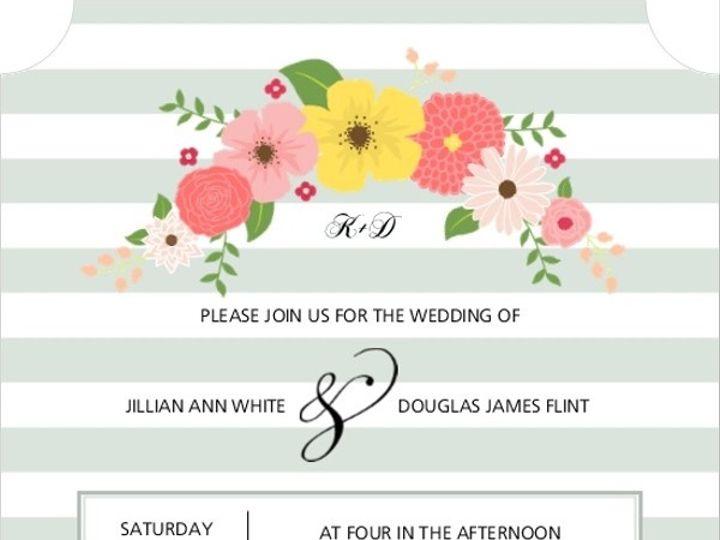 Tmx 1440787747156 Striped Vintage Florals Wedding Invitation31842582 Issaquah wedding invitation