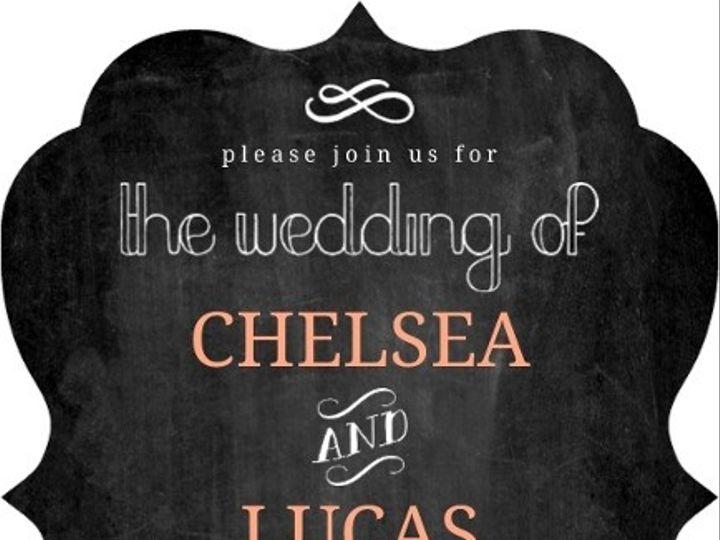 Tmx 1440787749545 Chalkboard White Peach Accents Wedding Invitation3 Issaquah wedding invitation