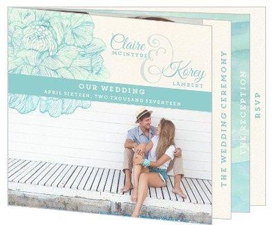 Tmx 1440787752023 Elegant Watercolor Floral Wedding Booklet Invitati Issaquah wedding invitation