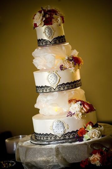 Rebecca's Vintage Cake [butter orange cake layers with a splash of grand marnier, filled with...
