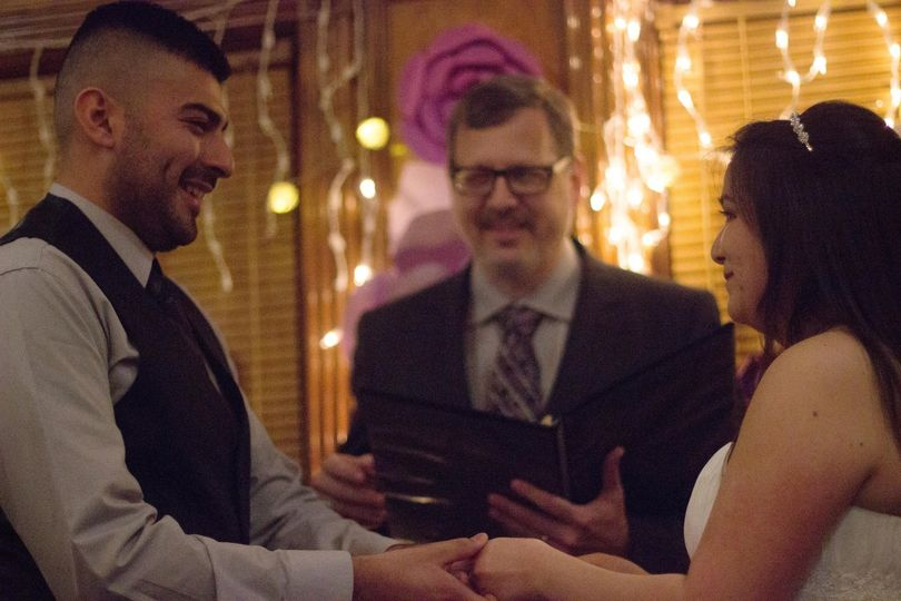 Saying their personal vows