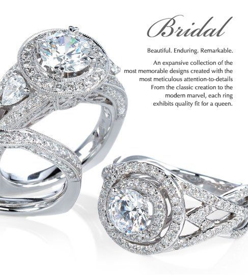 Gabriel&Co. Bridal line is one of a kind and full of personality.  This line is perfect for the...