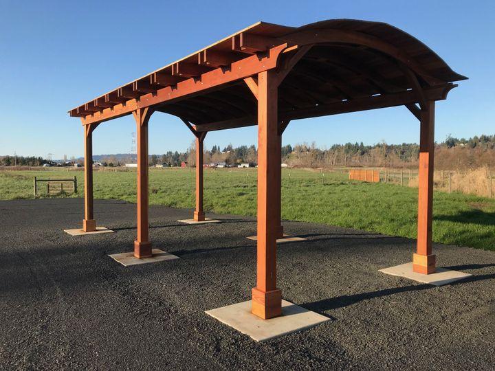 Enjoy our redwood pavilion!