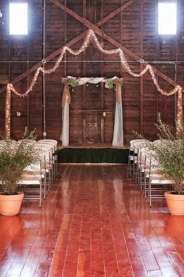 Our barn loves rustic weddings