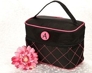 """The Cosmopolitan"" cosmetic travel bag is completely chic and urban, and the elegant monogrammed..."
